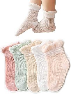 Fatu Fashion 5-Pack Baby Socks Newborn Baby Infant & Toddler Girls Boys Socks Breathable Soft Absorb Sweat Socks for Boys ...