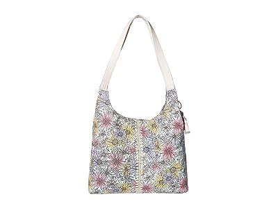 Sakroots Hermosa Hobo (Pastel Flower Garden) Handbags