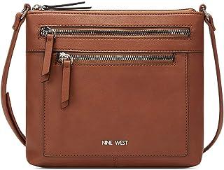حقيبة طويلة تمر بالجسم من ناين ويست للنساء - بني