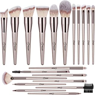 BESTOPE Makeup Brushes 20 PCs Makeup Brush Set Premium Synthetic Contour Concealers Foundation Powder Eye Shadows Makeup B...