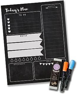 Jennakate - Chalkboard Design - to Do List - Dry Erase Checklist - Magnetic Chalk Daily Schedule Planner Checklist - 11