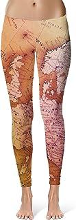 Queen of Cases Antique Europe Map Leggings XS-3XL