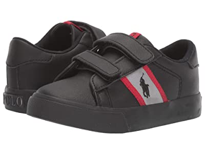 Polo Ralph Lauren Kids Geoff II EZ (Toddler) (Black Tumbled/Grey/Red/Black Pony Player) Boy