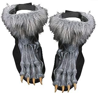 Fun World Men's Silver Werewolf Shoe Covers