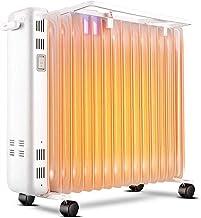 BAODI Radiador de Aceite con Aceite radiador Calefactor eléctrico portátil Ajustable termostato 3 Ajustes de Calor luz indicadora de Encendido, Castor Ruedas