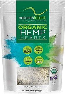 Nature's Intent Organic Hemp Hearts - 3 Pack- 30 Ounce - USDA Organic, Non-GMO, Vegan, Gluten-Free, Kosher, Keto & Paleo -...