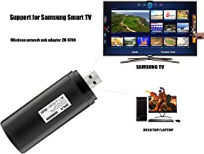 ZMLM USB WiFi Adapter for Samsung Smart TV, 802.11ac 2.4GHz and 5GHz Dual-Band Wireless Network LAN Adapter Stick Compatible for Samsung Smart TV Windows 10/8 / 8.1/7/ Vista/XP/ 2000