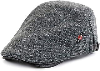 Gudessly Men's Knitted Cabbie Driving Duckbill Beret Casquette Hat Warm Visor Newsboy Cap for Men
