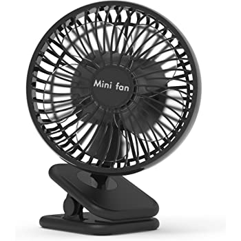 6-Inch Clip On Fan, 10000mAh Battery Operated Fan With Up to 53H Long Working Time for Hurricane Outage, 4 Speeds, Fast Air Circulation, Quiet USB Desk Fan with Sturdy Clamp for Camping, Treadmill, office
