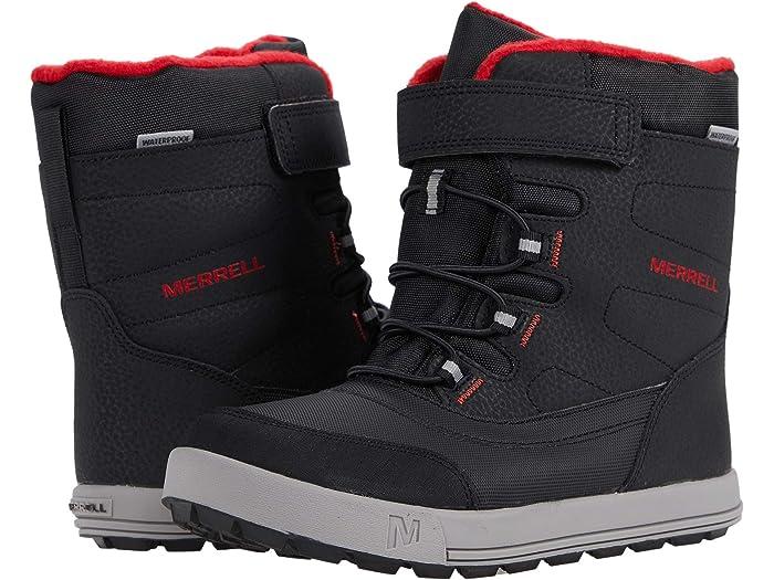 Black//Grey//Red Merrell Snow Storm Waterproof Boot 10 US Unisex Big Kid
