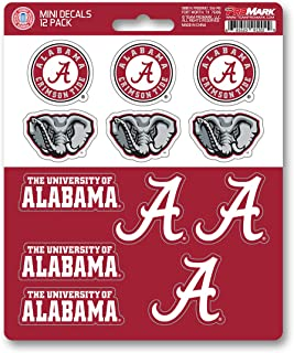 ProMark NCAA Alabama Crimson Tide Decal Set Mini (12 Pack), Team Color, One Size