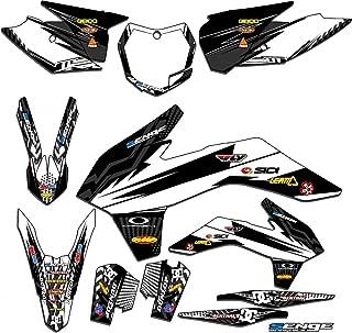 Senge Graphics kit compatible with KTM Late 2001 SX (Has the same plastics as the 2002 SX 250), Mayhem White Graphics Kit