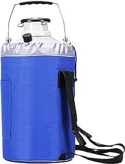 bestequip 10L nitrógeno líquido contenedor tanque de nitrógeno líquido criogénicas contenedor con 3botes de aleación de a...