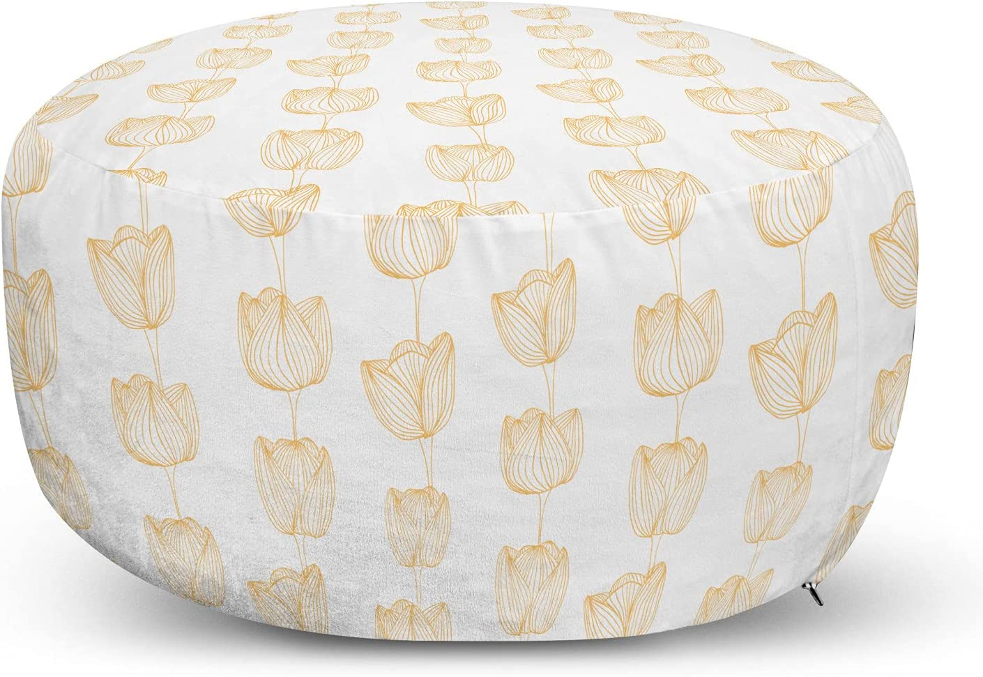 Very popular! Ambesonne Floral Ottoman Luxury goods Pouf Hand Bouquets Drawn Look Tulip Sh