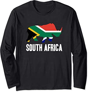 South Africa Rhino Rhinoceros Safari Gift Long Sleeve T-Shirt