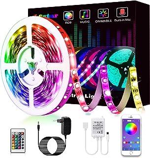 LED Strip, L8star LED Streifen Farbwechsel LED Strip Lichtband RGB Flexible LED Bänder Strips mit Bluetooth Kontroller Syn...