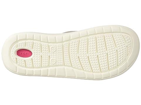 Crocs Blanco LiteRide Blanco Pearl Slide qxwx0PUO