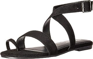 Aerosoles Women's Shortener Flat Sandal, Black Fabric, 5.5 M US
