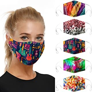 ATRISE 5PC and 10 Replace Face Cover Dustproof Windproof Foggy Haze Mask for Dust Sun Wind Cycling Mask