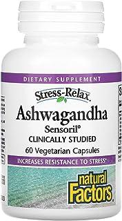 Natural Factors Stress Relax Ashwagandha Sensoril - 60 Vegetarian Capsules