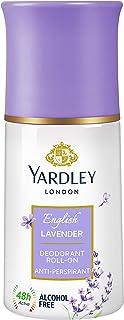 Yardley London English Lavender Anti Perspirant Deodorant Roll On for Women, 50ml