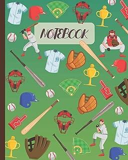 Notebook: Baseball Cartoon Cover - Lined Notebook, Diary, Track, Log & Journal - Cute Gift for Kids, Teens, Men, Women, Baseball Players & Coaches (8