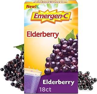 Emergen-C Elderberry Fizzy Drink Mix, Elderberry Immune Support, Natural Flavors, with High Potency Vitamin C, Elderberry,...