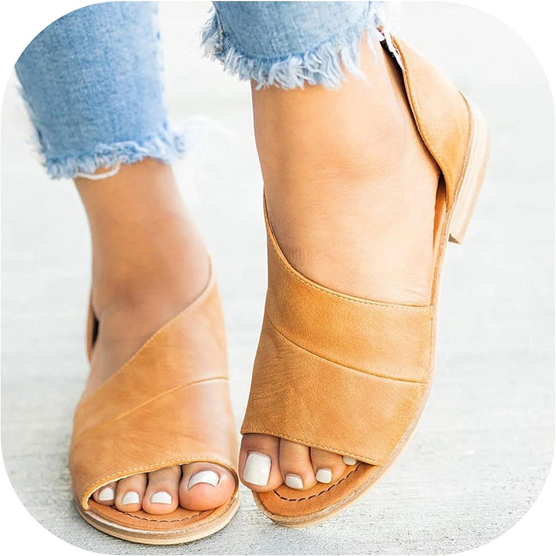 Women Sandals Casual shoes Peep Toe Low Heels Sandalias