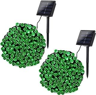 Joomer Solar String Lights 2 Pack 72ft 200 LED 8 Modes Solar Powered Christmas Lights Waterproof Decorative Fairy String Lights for Garden, Patio, Christmas Decoration (Green)