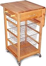 Catskill Craftsmen Single Drop Leaf Kitchen Basket Cart