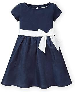 Girls' Short Sleeve Skater Dress with Waist Sash