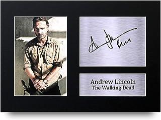 HWC Trading Andrew Lincoln A4 Sin Marco Regalo De Visualización De Fotos De Impresión De Imagen Impresa Autógrafo Firmado por The Walking Dead Ventiladores De Programa De TV
