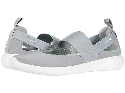 Crocs LiteRide Mary Jane (Light Grey/White) Women