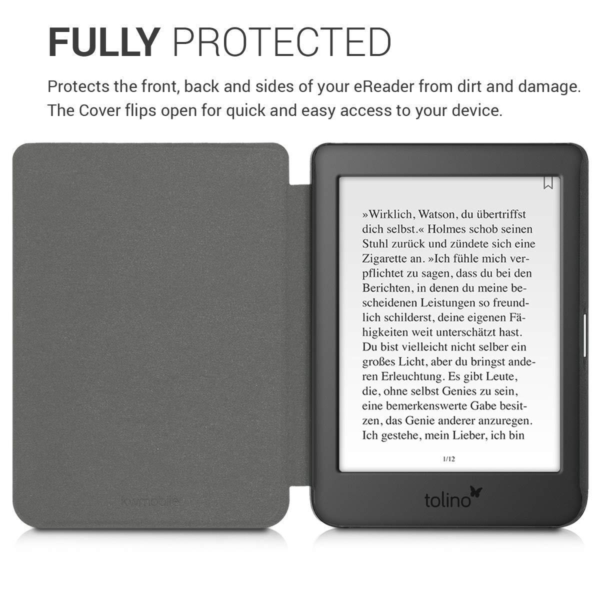kwmobile Funda Compatible con e-Reader Tolino Page 2 -Case Plegable de Fieltro en Farbe: Amazon.es: Electrónica