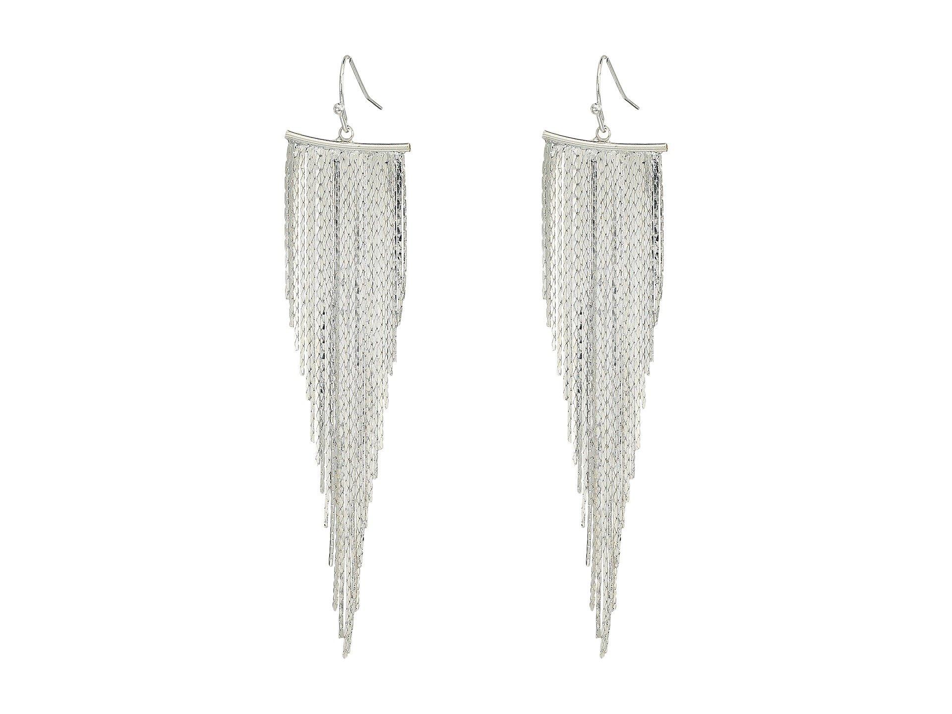 Kenneth Jay Lane Polished Silver Fish Hook Earrings Polished silver vnomdY