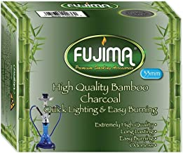 fujima Sage Smudge Charcoal Tablets Bamboo Odorless for 33 mm, 10 Disks