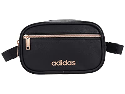 adidas PU Leather Waist Pack (Black/Rose Gold) Bags