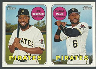 2016, 2017 & 2018 Topps Heritage Pittsburgh Pirates Base 3 Team Set Lot Gift Pack 37 Cards Josh Bell Tyler Glassnow Andrew Mccutchen