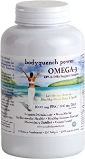 Omega-3 High Potency DHA and EPA Support Complex - 2000 mg Natural Fish Oil Concentrate Supplies 1000 mg EPA + 500 mg DHA ...