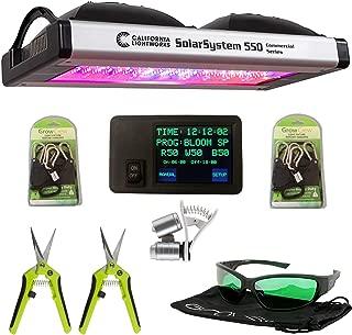 California Lightworks Solar System 550 + Controller + Method Seven LED Glasses + Ratchet Ropes, Grow Light Fixture 400w, LED Commercial Lighting System
