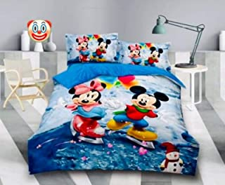 Lanil's Choice Super Soft Cotton Double Bed Cartoon Printed Bedsheet for Kids (90x100 )
