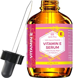 Vitamin E Serum by Leven Rose 100% Pure Organic All Natural Face, Dry Skin & Body Moisturizer Treatment, Hair & Nail Growt...