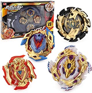 Bey Battle Gyro Burst Evolution Battling Top Fusion Metal Master Rapidity Fight with 4D Launcher Grip Set