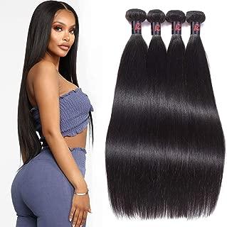 RESACA Hair 30 28 26 24inch 9a Malaysian Straight Hair 4 Bundles Unprocessed Virgin Straight Human Hair Malaysian Hair for African Americans Women Natural Colour