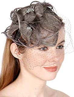 SERENITA fashion2100 Feather & Quills Sinamay Fascinator