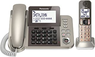 Panasonic KX-TGF350N Corded / Cordless Dect 1 Handset Landline Telephone,Champagne Gold
