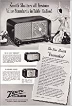 1948 Zenith Pacemaker Radio: One Great Forward Step, Zenith Print Ad