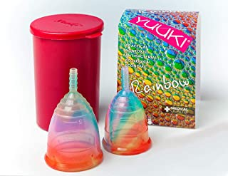 Yuuki Menstrual Cup - Rainbow Jolly - Small and Large + Infuser Box + Small Gift