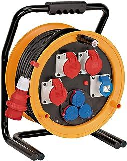 Brennenstuhl Brobusta CEE 4 IP44 Industrie-/Baustellen-Kabeltrommel 40m Kabel, aus Spezialgummi, für den Baustelleneinsatz und Einsatz im Außenbereich, BGI 608