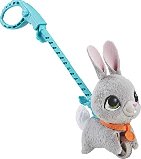 FurReal Walkalots - Lil Wags Grey Bunny Plush Pet Doll - Interactive Toys for kids, boys, girls - Ages 4+
